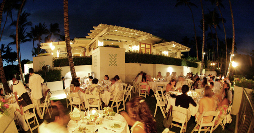 Hawaiian Wedding Receptions On Maui Luau Buffets Catered Formal